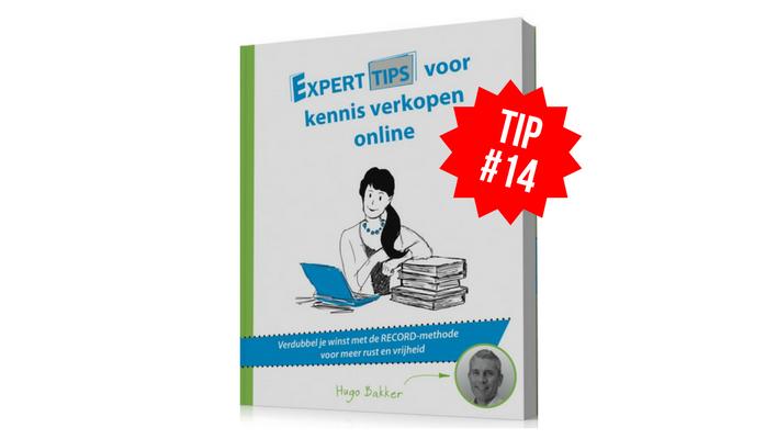 Kennis Verkopen Online Tip 14: Meer verkopen met Partnerbonussen