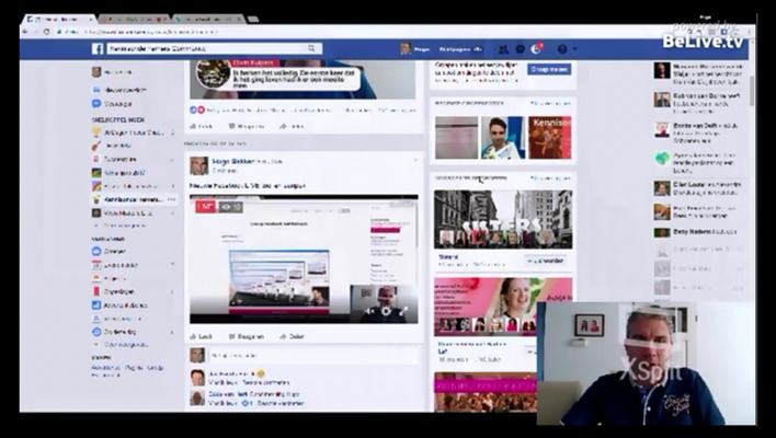 Nieuwe Facebook LIVE tool – XSplit Broadcaster