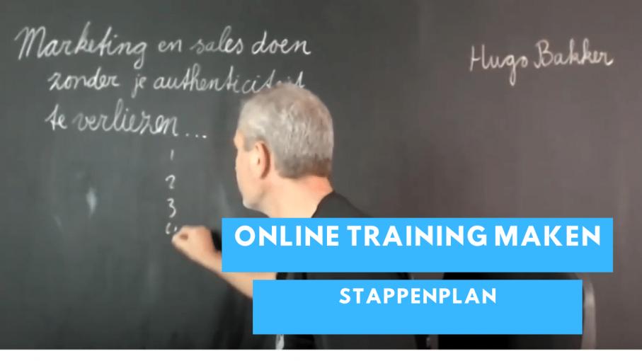 Stappenplan om je online training te maken en te verkopen