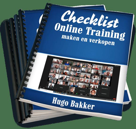 Checklist Online Trainingen maken en verkopen