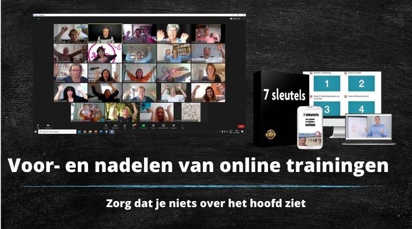 voor en nadelen van online trainingen maken